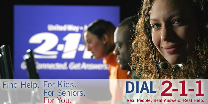 United Way 2-1-1 Get Connected. Get Answers.