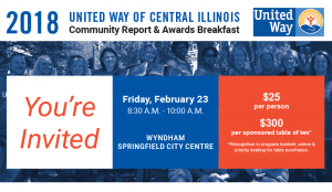 2018 Community Report and Awards Breakfast @ Wyndham Springfield City Centre | Springfield | Illinois | United States