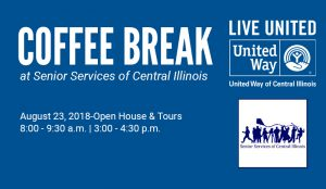 Coffee Break at Senior Services of Central Illinois @ Senior Services of Central Illinois