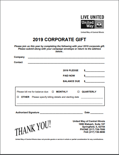 2019 Corporate Pledge Form