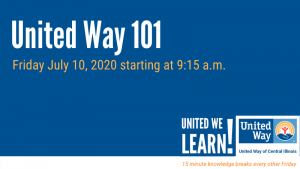 United We Learn Session: United Way 101 @ Virtual