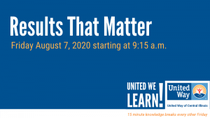 United We Learn Session: Results That Matter @ Virtual